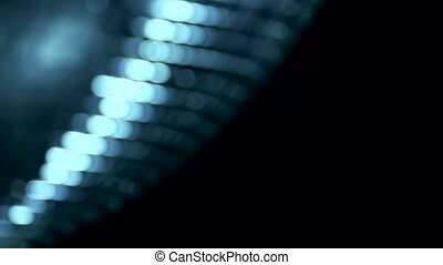 Blurred mirror disco ball in bokeh