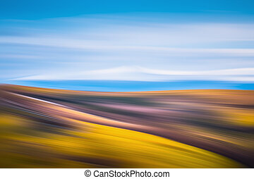 blurred mountains background - Abstract blurred mountains...