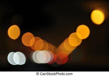 Blurred neon lights