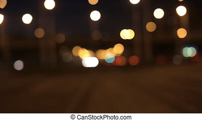 blurred night city
