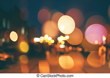 Blurred night city scene background