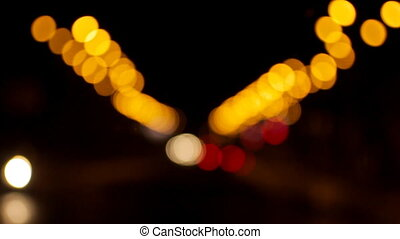 Blurred night road lights - A great background. A blurred...