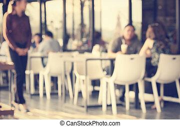 Blurred of restaurant