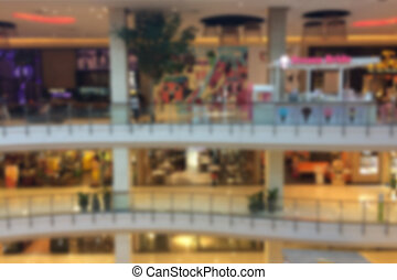 Blurred of Shopping Mall