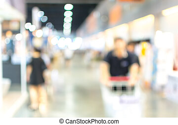 Blurred of shopping mall, Urban lifestyle concept