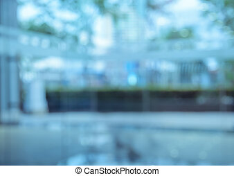 Blurred office building lobby background