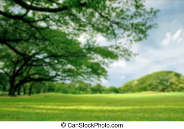 Blurred park, natural background