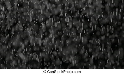 Blurred Particles of Water Vapour on Black Background -...