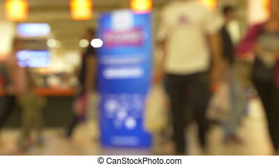 Blurred People Inside City Mall