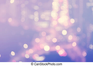 Blurred purple and blue urban highway background
