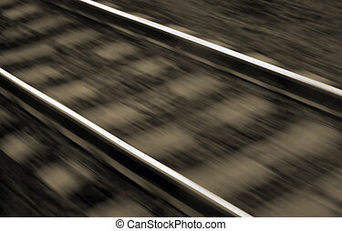 Blurred railway lines