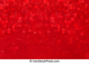blurred red background with bokeh, christmas lights defocused