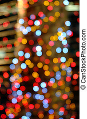 blurred red bokeh background