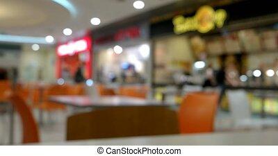 Blurred Restaurant interior