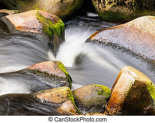 Blurred river stream detail