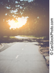 Blurred Road with Instagram Style Filter