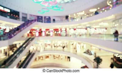Blurred shopping mall center - Blurred shopping mall hall....