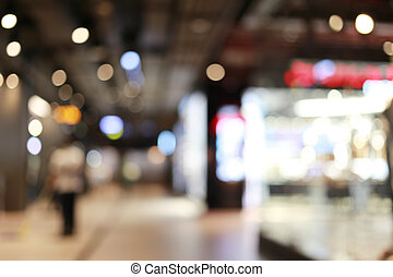 Blurred shopping mall or indistinct department store.