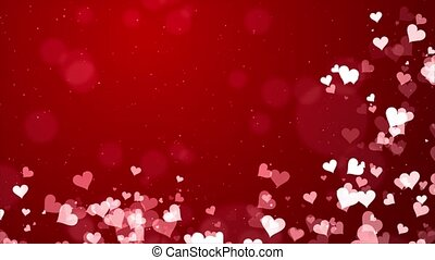 Blurred Smooth Abstract Red Heart Particles on Glitter ...