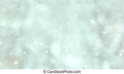 Blurred snowing background.