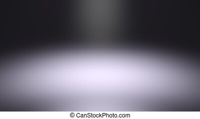 Blurred spotlight, dark abstract background