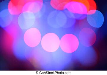Blurred stage lights