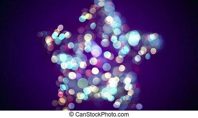 blurred star shape and bokeh lights seamless loop animation...