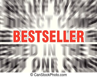 bestseller - blurred text with focus on bestseller