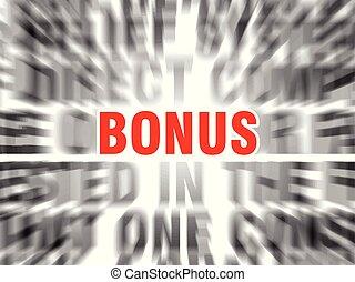 bonus - blurred text with focus on bonus