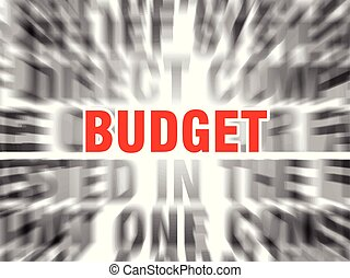 budget - blurred text with focus on budget