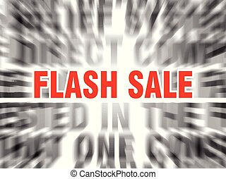flash sale - blurred text with focus on flash sale