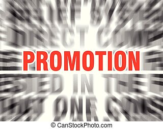 promotion - blurred text with focus on promotion