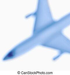 Blurred toy plane.