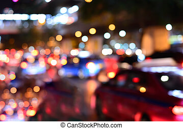 Blurred traffic jam on rush hour time.