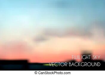 Blurred twilight sky. Cityscape vector