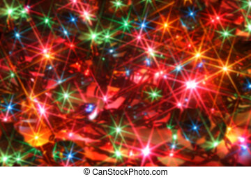 blurred twinkling lights - colorful twinkling christmas...