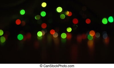 Blurred unfocused background with lights