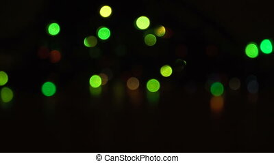 Blurred unfocused background with lights - Bright blurred...
