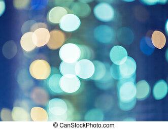 Blurred unfocused city light