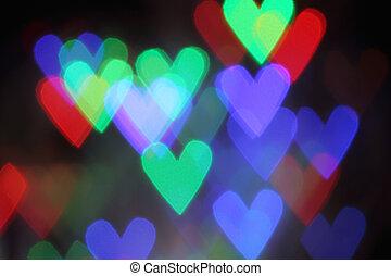 Blurred valentine background with heart