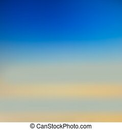 Blurred vector background. Sea and sun