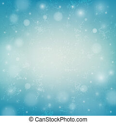 Blurred vector christmas background with bokeh and snowflakes