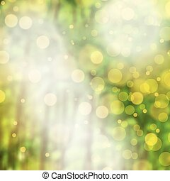 Blurred vector forest green background with lens flare