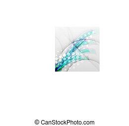 Blurred vector wave modern design