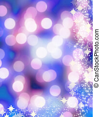 Blurred xmas lights - Blurred christmas lights with sparkles