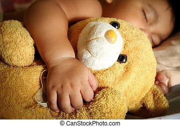 Blurry a child sleep