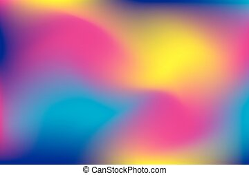blurry abstract background in pink, yellow and blue