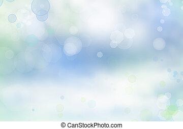 Blurry background - Bright blurs on blue background