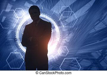 Blurry businessman silhouette
