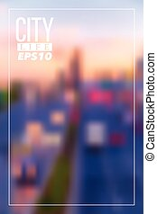 Blurry city vector background